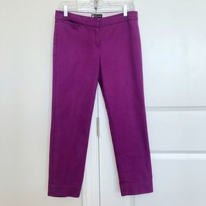Valerie Bertinelli Cropped Ankle Pants Purple